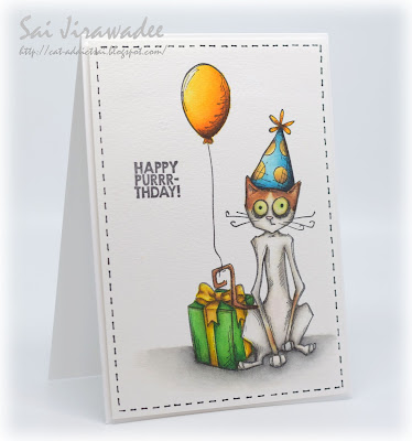 Crazy Cat Birthday Card