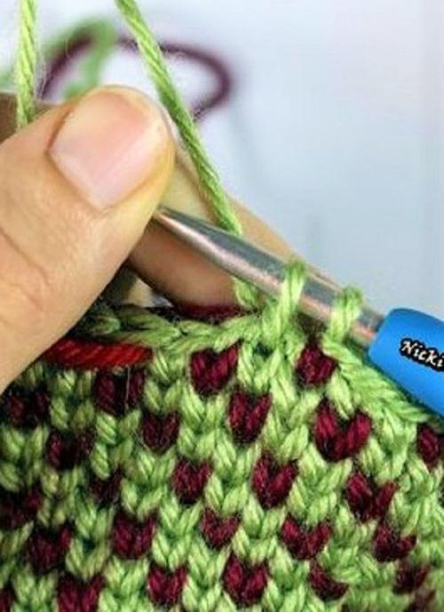 Waistcoat Stitch AKA The Knit Stitch - Tutorial