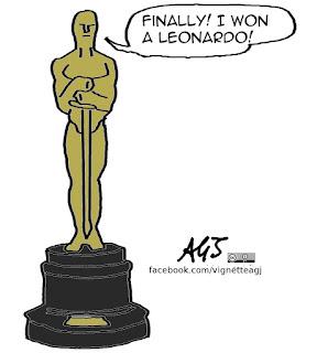 leonardo di caprio, oscar, academy awards, the revenant, umorismo, vignetta