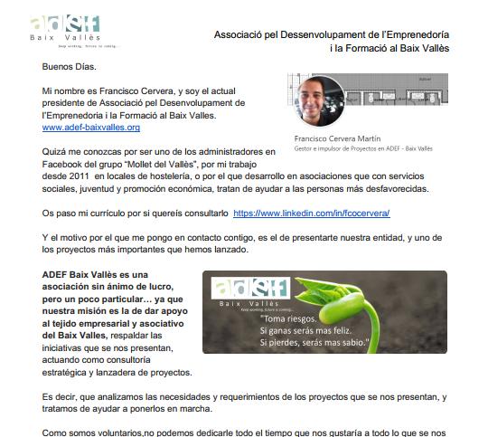 Captación de Fondos para el Centro de Impulso a Emprendedores y Asociaciones Baix Vallès