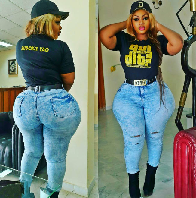 Mover over Cossy! Meet the lady who claims she has biggest bum in Africa