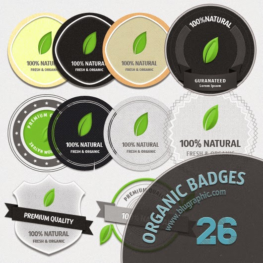 Fresh Organic Badges PSD