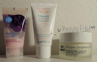 routine soins soir masque gommage