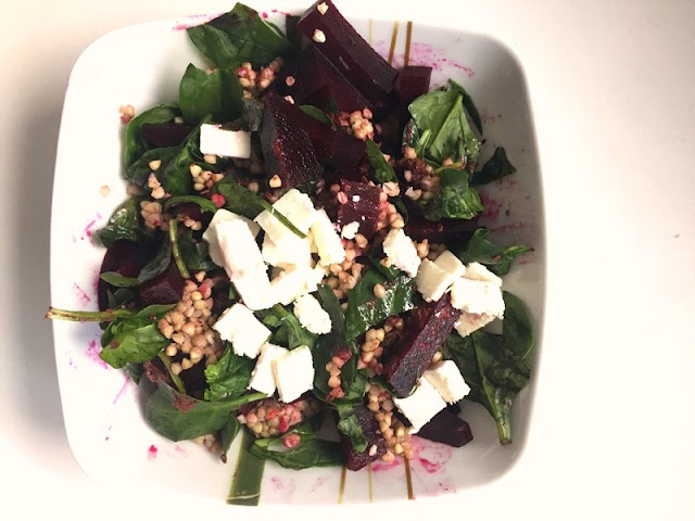 easy recipe, healthy food, glutenfree, salad, lunch, model diet, beet,