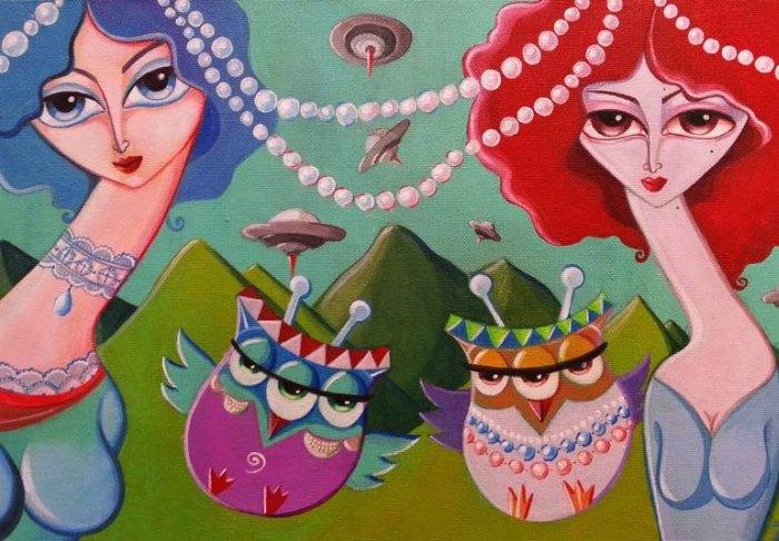 Сюрреалистично-реалистичные картины. Alexia Bahar Karabenli