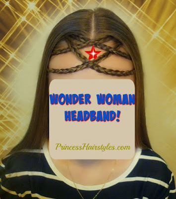 Wonder Woman hairstyle tutorial! How to make a WW headband using braids for Halloween.