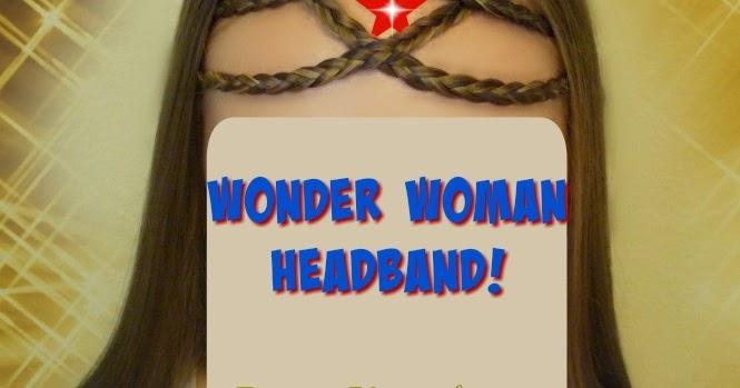 Wonder Woman Hairstyle Tutorial Diy Braided Headpiece