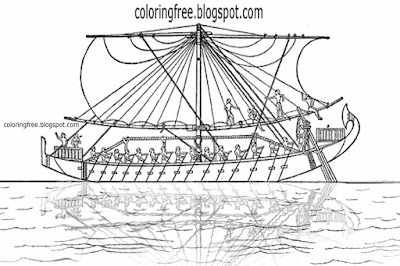 Teen clip art North Africa coloring in pages River Nile Mediterranean Sea boat ancient Egypt drawing