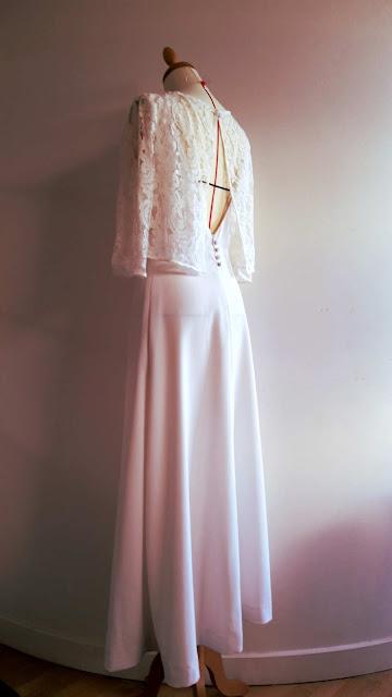 robes de mariée en dentelle par créatrice à Versailles