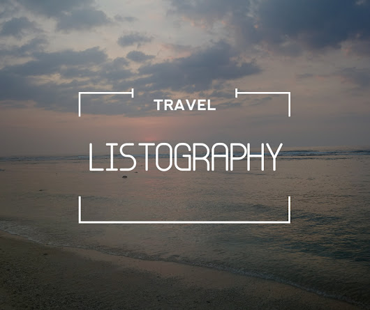 whm: TRAVEL LISTOGRAPHY #2015