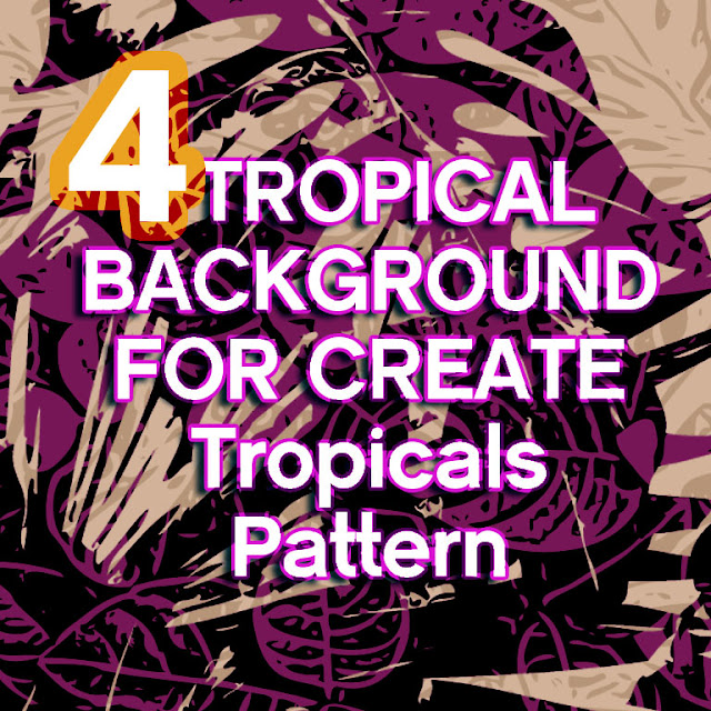 new brush photoshop tropical for create background pattern design