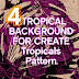 Tropical element Brush Photoshop for create background Pattern Design
