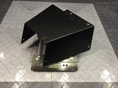 The original Caterham pedal box cover weighed in at 310g