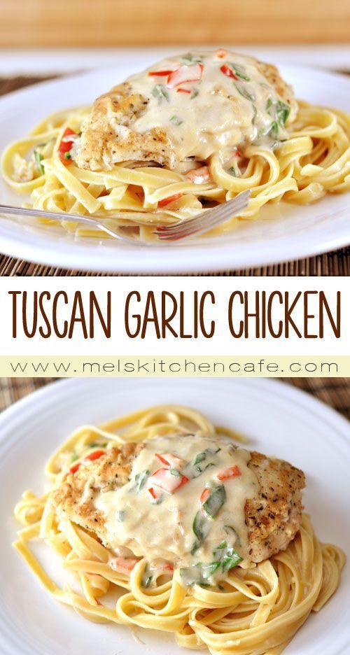 TUSCAN GARLIC CHICKEN {OLIVE GARDEN KNOCKOFF} #tuscan #garlic #chicken #chickenrecipes #olive #garden #knockoff #tasty #tastyrecipes #delicious #deliciousrecipes