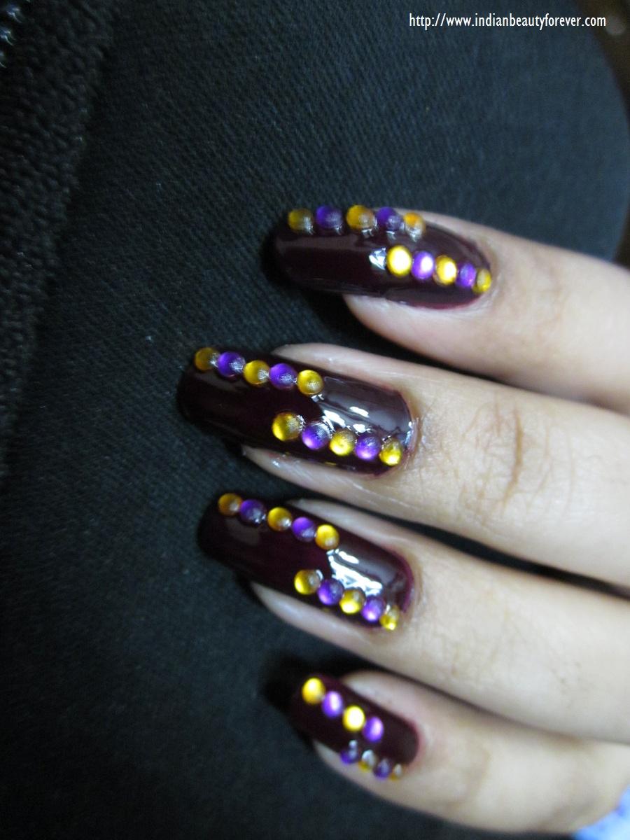 Dark Fantasy nail art at home - Indian Beauty Forever