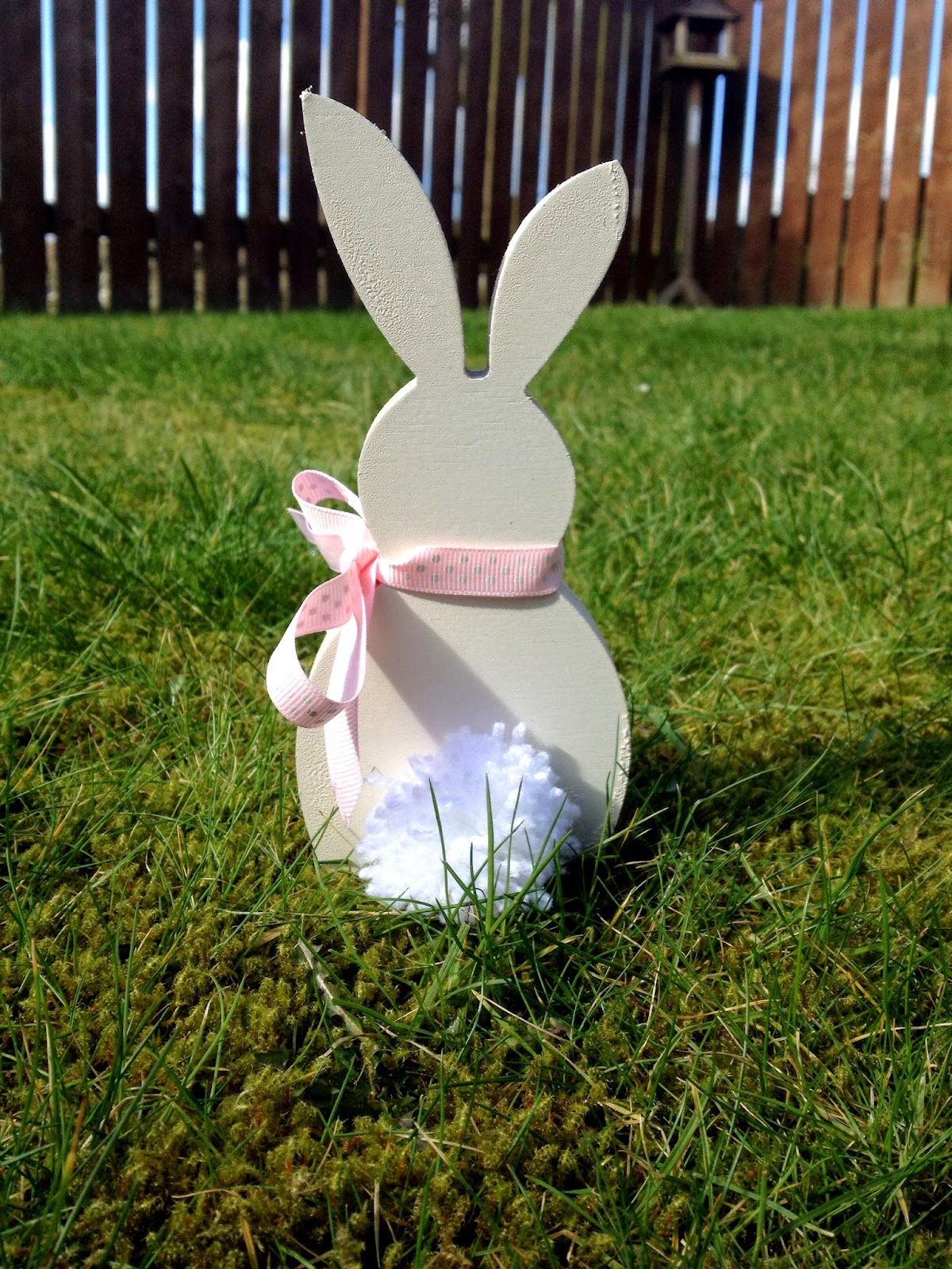 Diy Decorated Wooden Easter Bunny