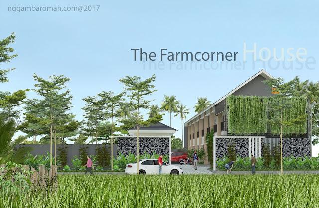Rumah kos di lingkungan hijau