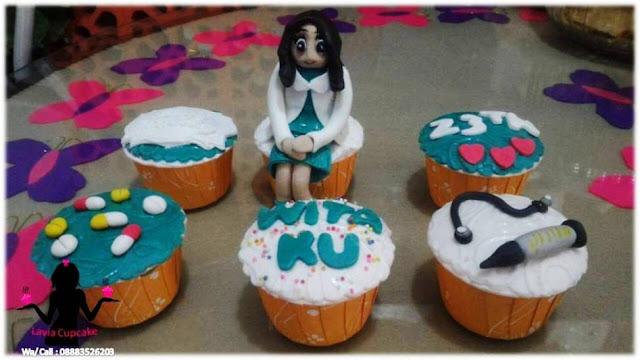 Cupcake Ultah Pacar Calon Dokter