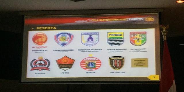 Peserta Turnamen Piala Bhayangkara 2016
