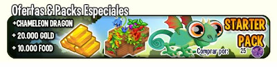 imagen del apquete de oferta de dragon city