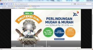 tampilan website di desktop