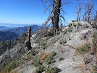 View west from the ridge approaching San Gabriel Peak