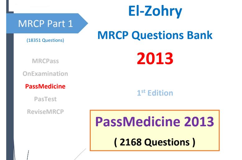 Pass Medicine MCQs for MRCP بنك أسئلة الباطنة - Medic4arab com