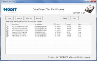Download WinDFT (HGST Drive Fitness Test) 0.95
