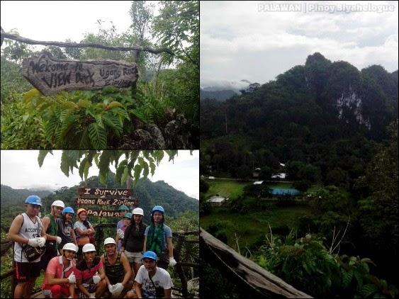 At the top of Ugong Rock