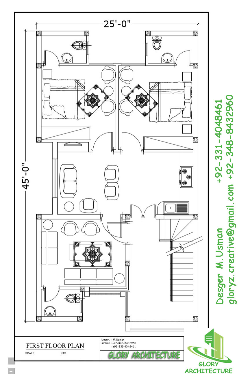 Front Elevation Floor Plan : House plan elevation d view