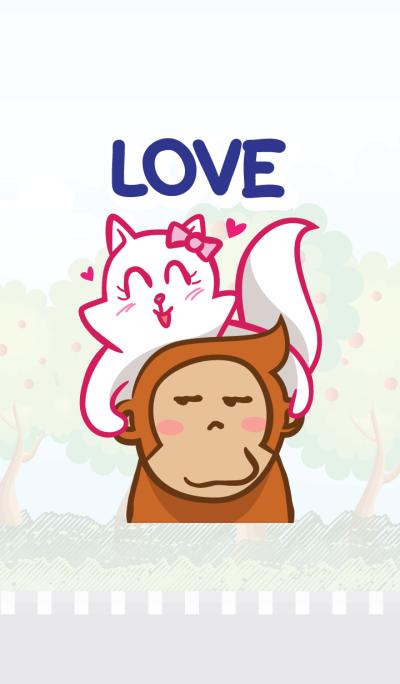 Cat & Monkey in Love