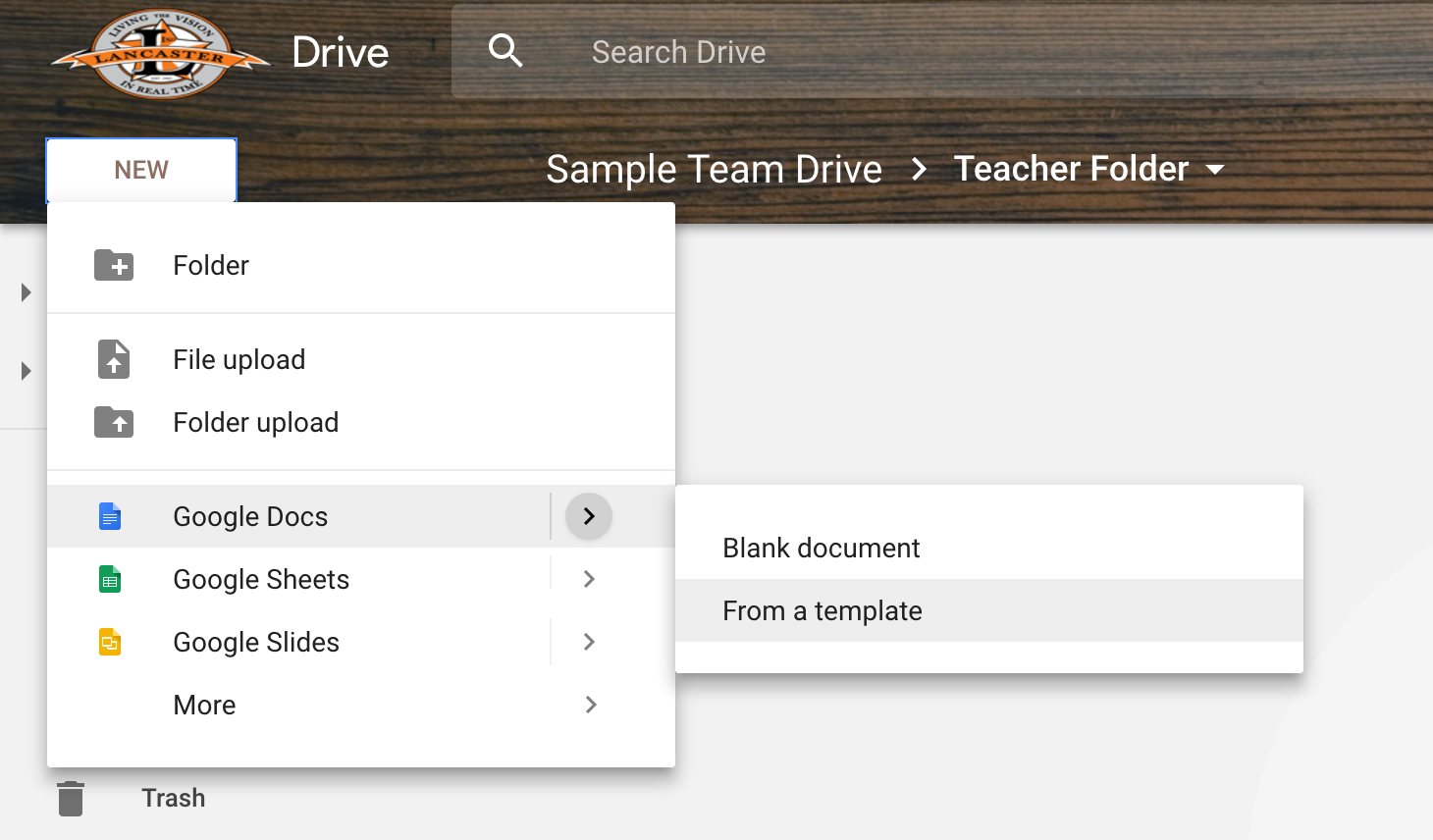 Texas EdTech Using Google Team Drives To Create And Share - Google docs lesson plan template