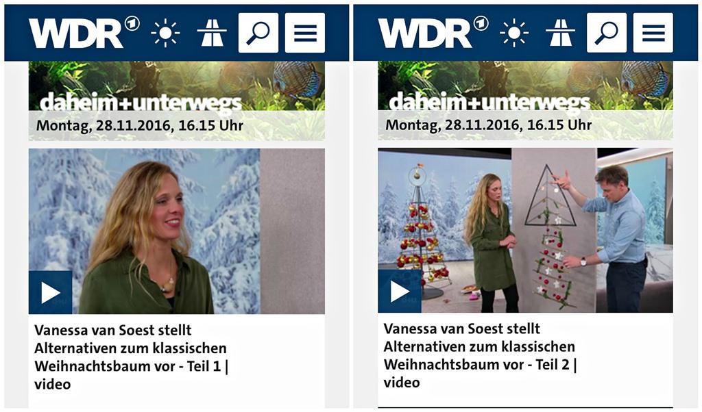 Alternativer Weihnachtsbaum, DIY, Kölner Blogger, WDR, daheim+unterwegs, Frollein Pfau, Weihnachtsbasteln, selbstgemachter Weihnachtsbaum, Basteln mit Masking Tape, Masking Tape Weihnachtsbaum, Weihnachtsdeko, Dekoration