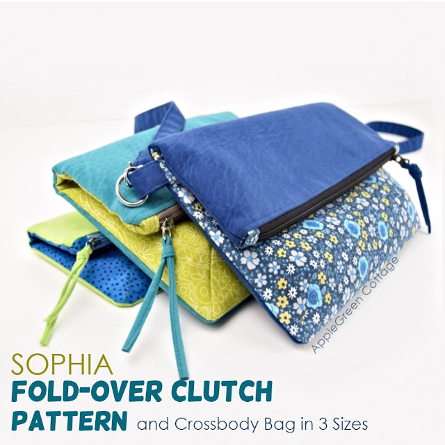 fold-over clutch pattern