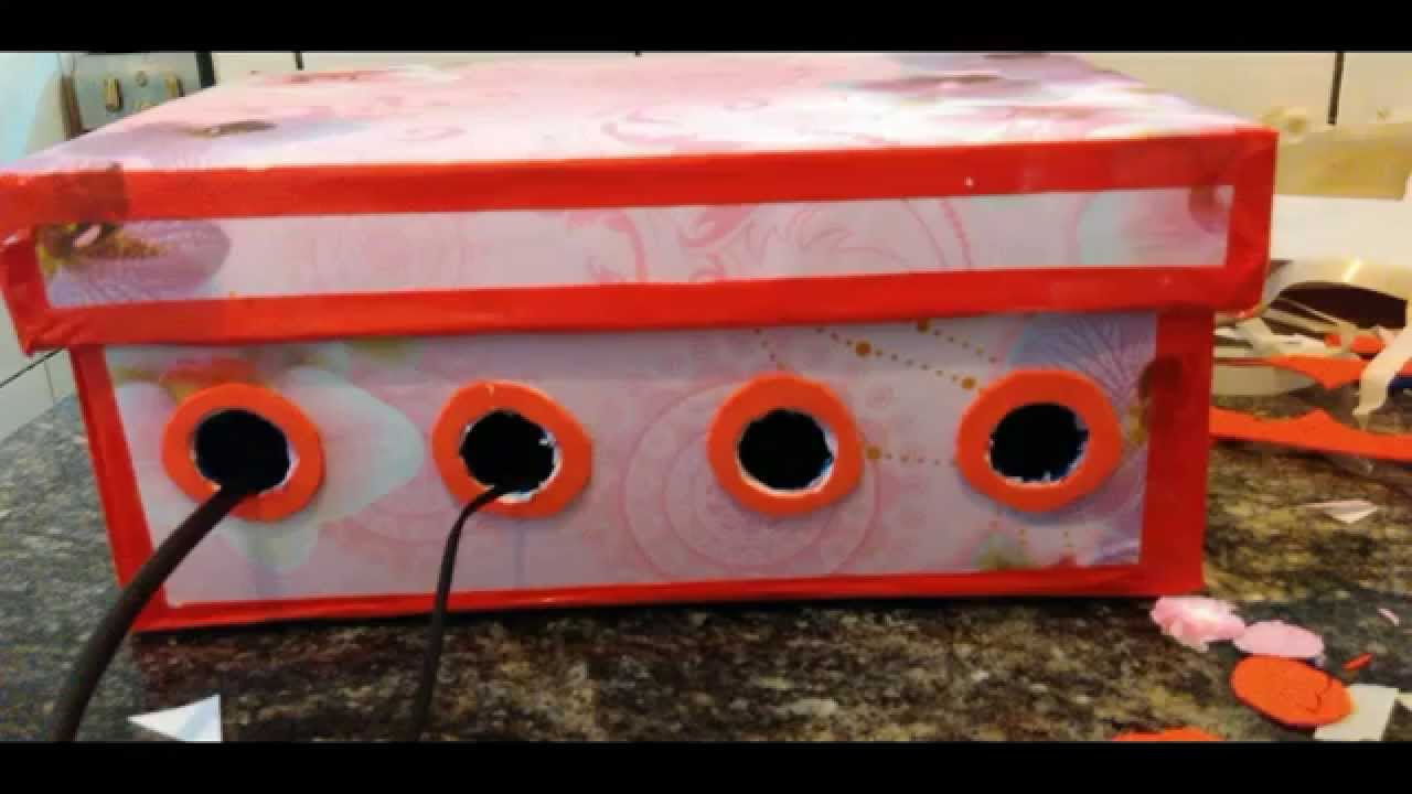 DIY: Customizando Caixas De Papelão