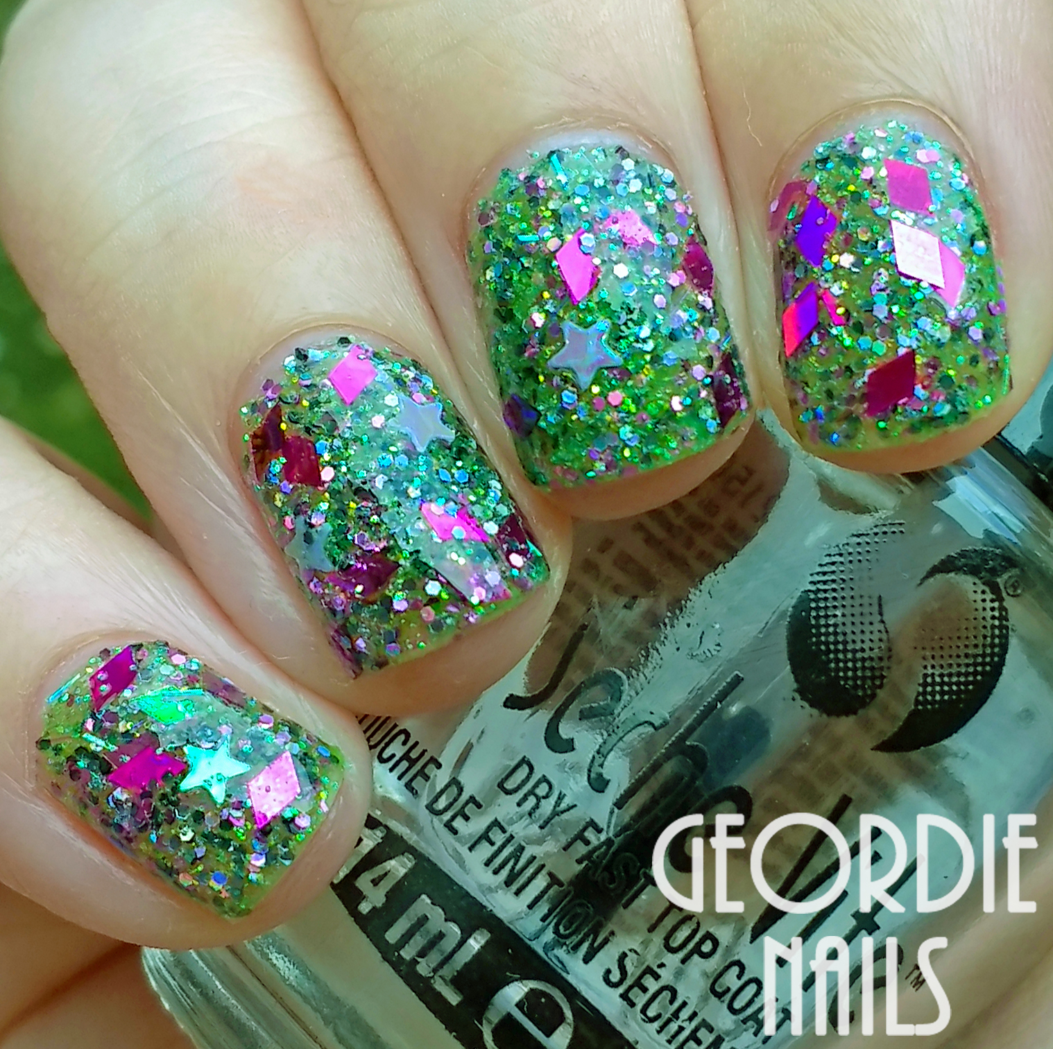 Geordie Nails: Charlies Nail Art ~ Witches Brew Glitter Mix