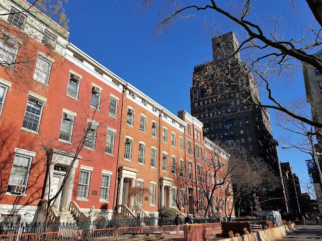 soliga platser i New York på vintern
