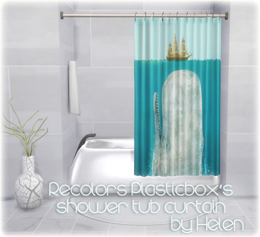 Helen-sims: TS4 Recolors Plasticbox\'s shower tub curtain