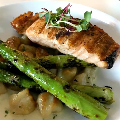 Grilled Salmon | 5Church Atlanta | Photo: Travis S. Taylor