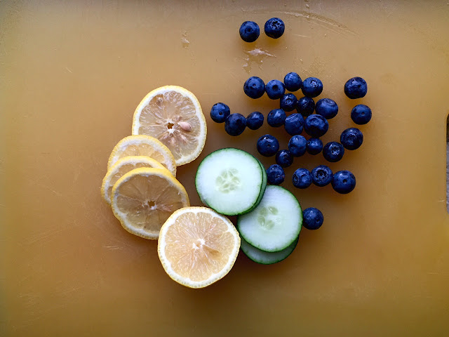 Eating Fabulously, Christopher Stewart, cucumber, blueberry, lemonade