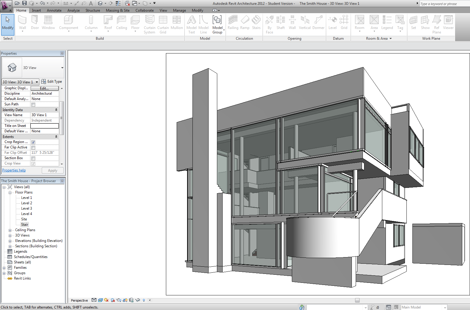 Meier is Reviting Linking the Smith House Site Cad File into Revit – Richard Meier Smith House Floor Plans