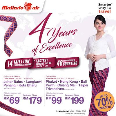 Malindo Air Anniversary Sale Discount Promo