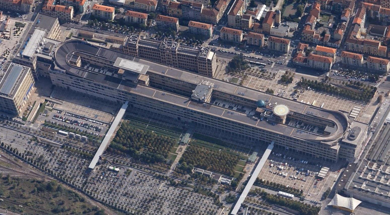 fiat lingotto factory torino aerial