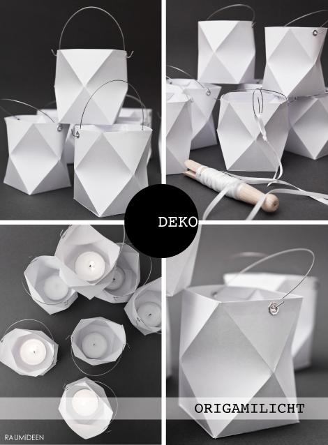 Origami Windlicht falten und kleben!