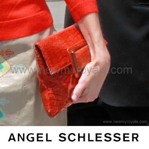 Queen Letizia carried Angel Schlesser Clutch Bag