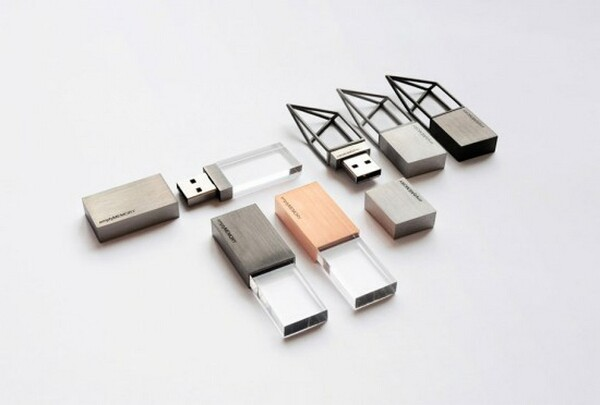 Transparent USB flash memory drives