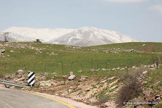 ישראל בתמונות: רמת הגולן, הר החרמון, שלג