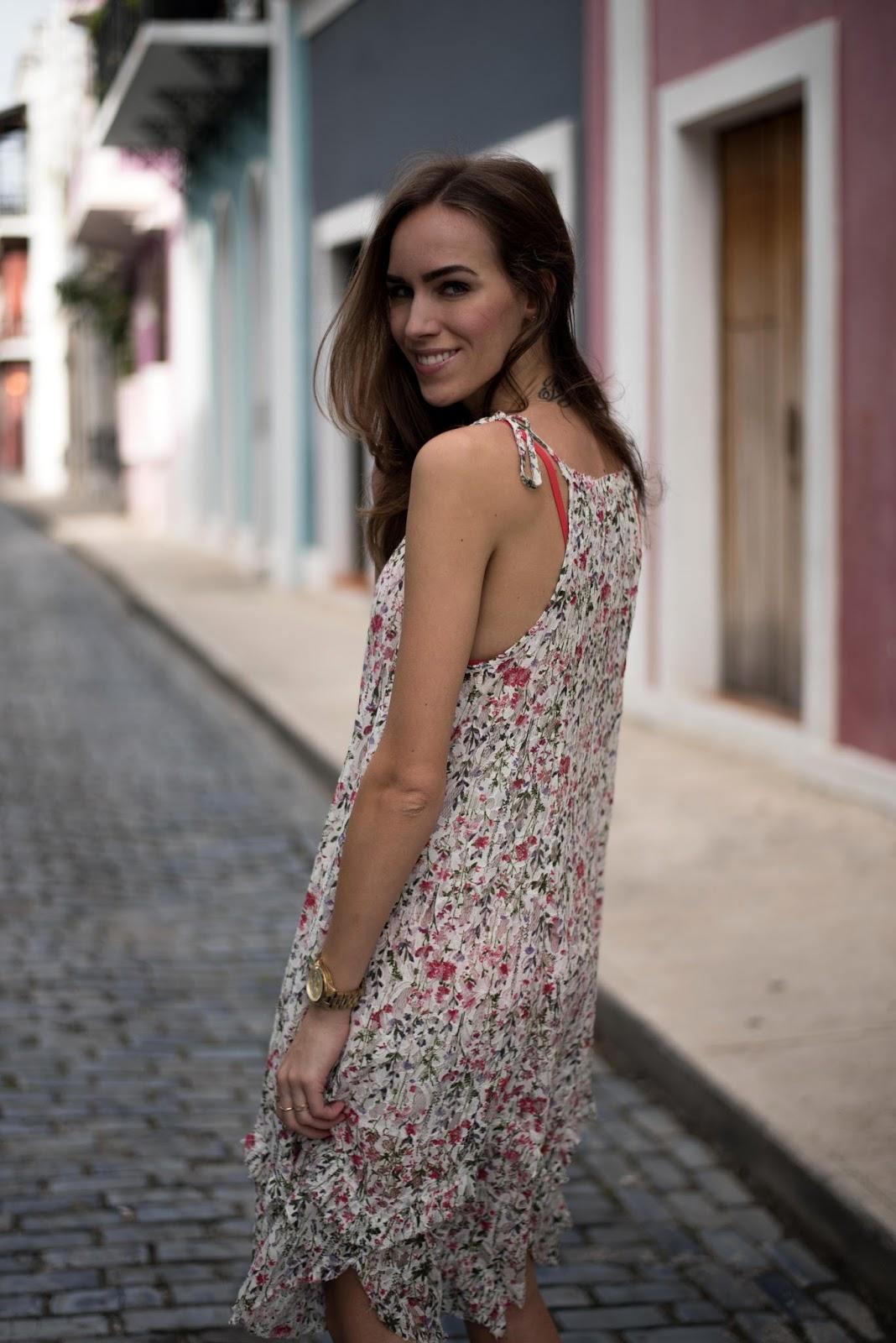 mango floral strap dress