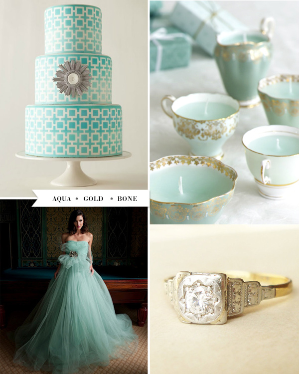 This Popped Up Recently On Ruffled And I Love The Colors Here These Are A Bit More Matchy Certainly Didn T Chose An Aqua Wedding Dress