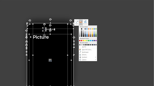 All Elements are fully editable in PowerPoint Menu